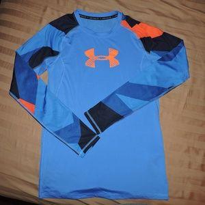 Boys Under Armour Long Sleeve Athletic Shirt XL